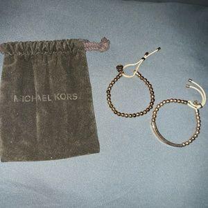 Michael Kors Set of 2 Beaded Rose Gold Bracelets